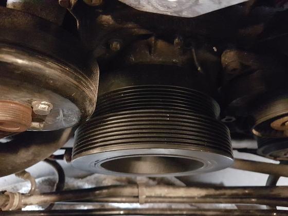 montage von 172 mm pulley rad