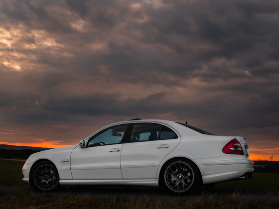 E55 vs sunset
